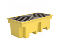 Pallet de Contenção Lubmix MIX-PL029 Capacidade de 255 Litros para 2 Tambores