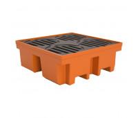 Pallet de Contenção Lubmix PL030 Capacidade de 420 Litros para 4 Tambores