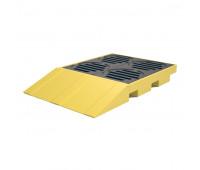 Pallet de Contenção Lubmix MIX-PL042-CR Capacidade de 150 Litros para 4 Tambores Com Rampa