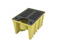 Pallet de Contenção Lubmix MIX-PL062 Para IBC 1000L Com Grade