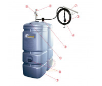 Unidade de Abastecimento a Granel Lupus SCHULTZ Capacidade 2000 Litros com Propulsora e Medidor Digital