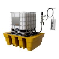 Kit para Lubrificação Pneumático adaptável a Parede e IBC de 1000L com Medidor Mecânico MIX-KPS-MCO1000 25LPM SAE90