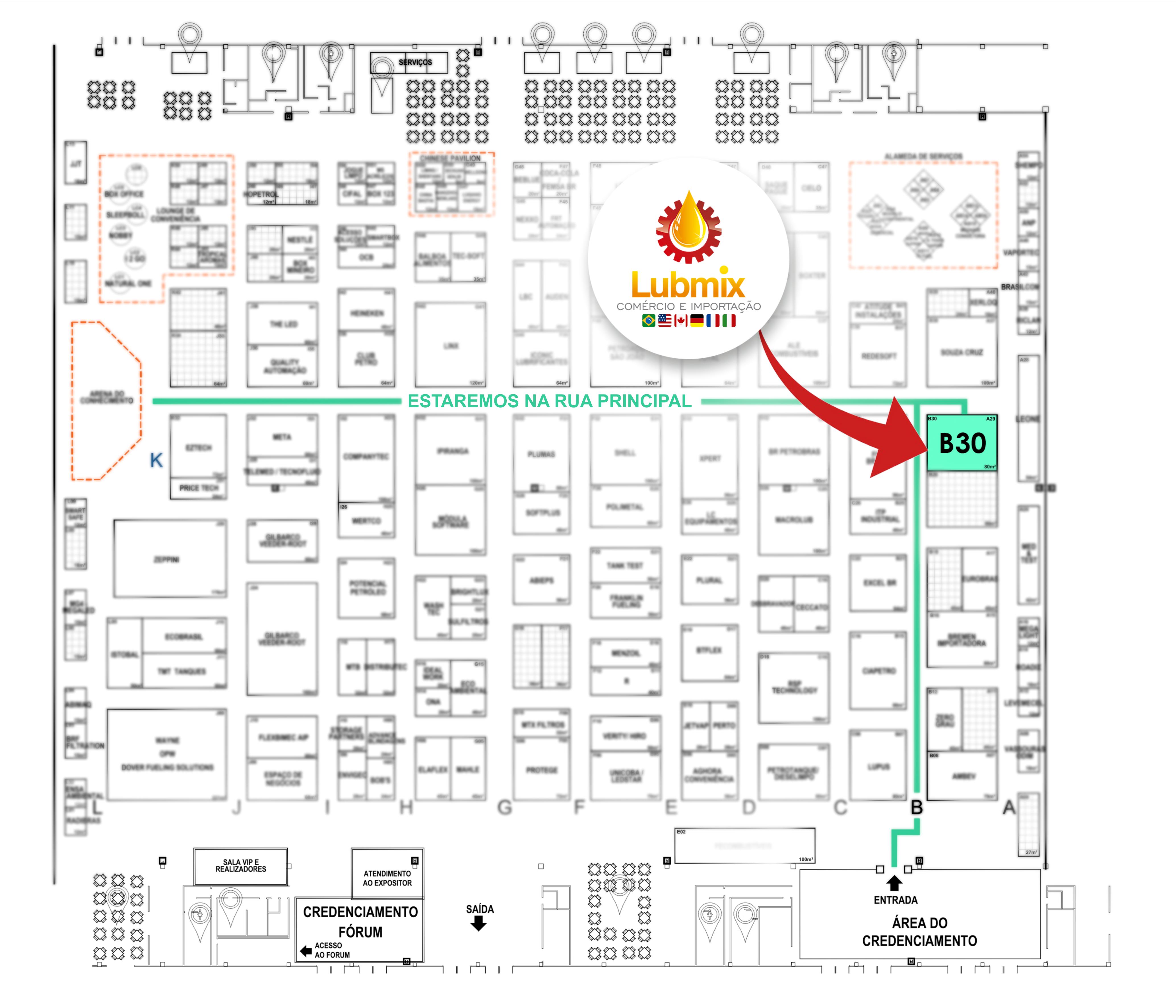 Mapa Expopostos 2019 - Lubmix - B30